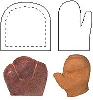 Изготовление лап и ладошек для кукол-перчаток