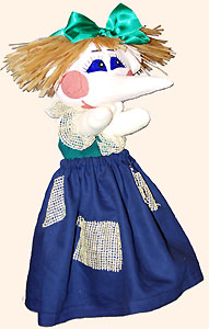 Шишига, дочка бабы Яги. Кукла-перчатка своими руками