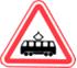 Стихи о дорожных знаках. Дорожный знак. Пересечение с трамвайной линией.